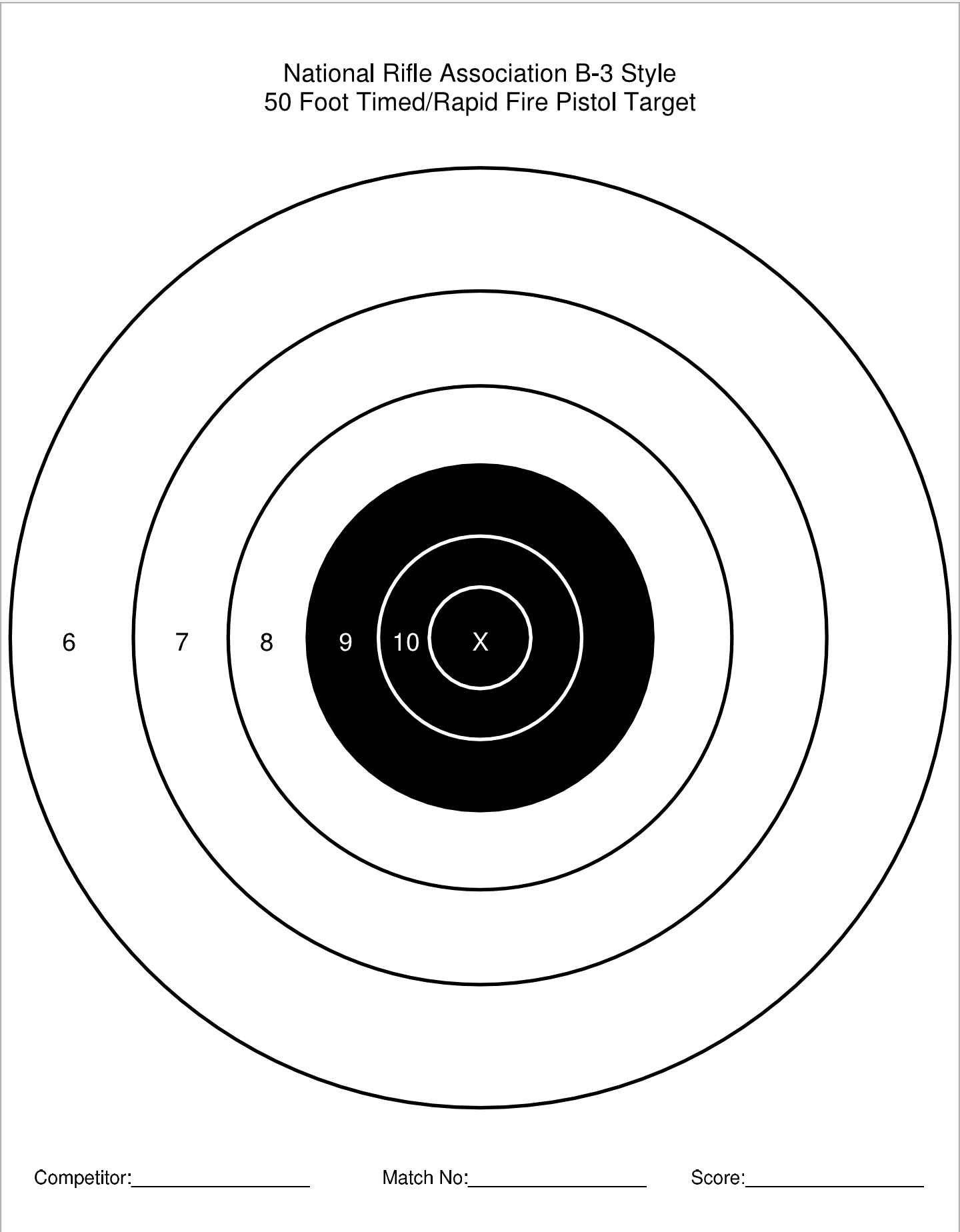 It is a photo of Peaceful Printable Pistol Targets