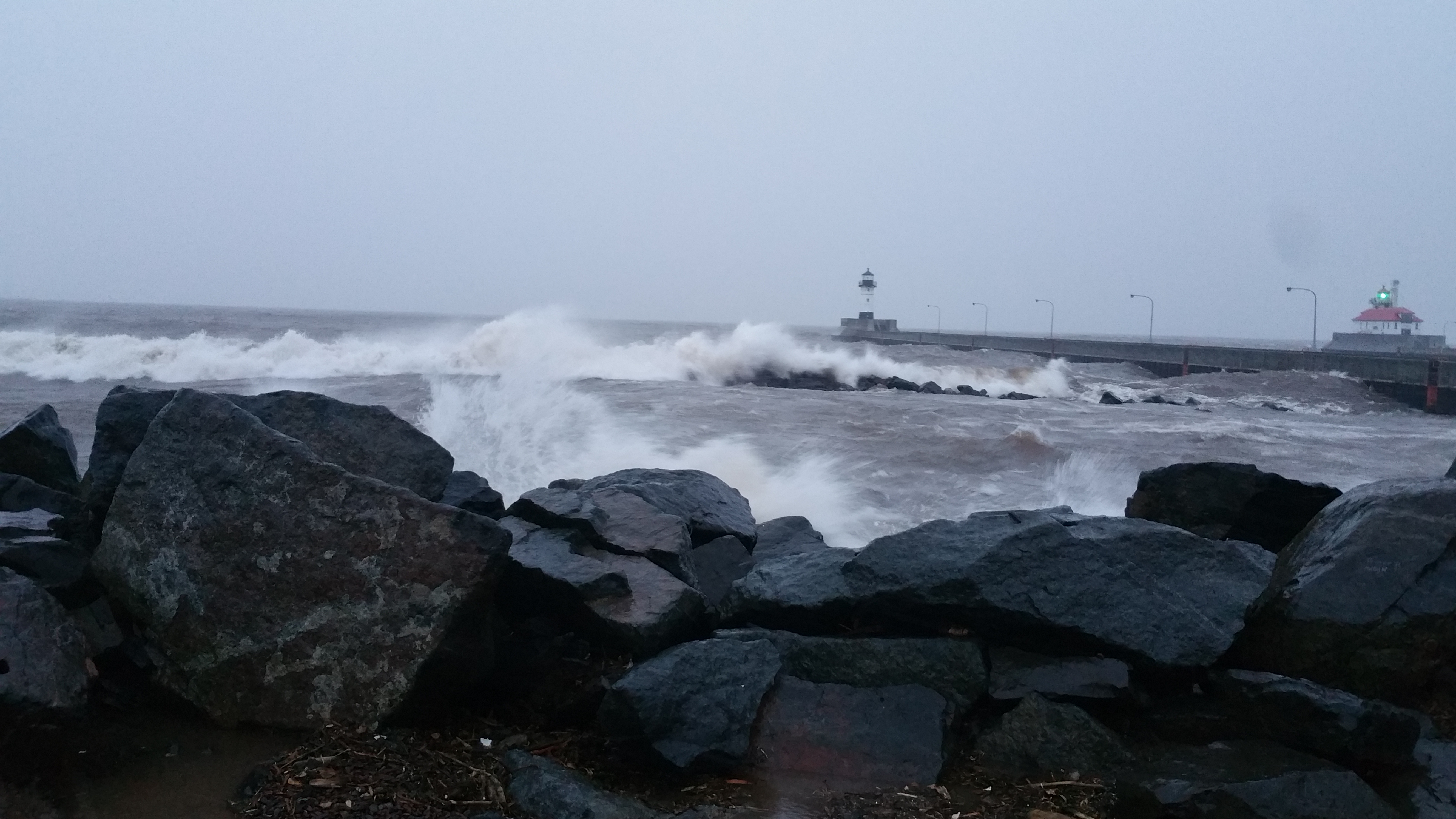 Big Waves at Canal Park – Duluth, MN