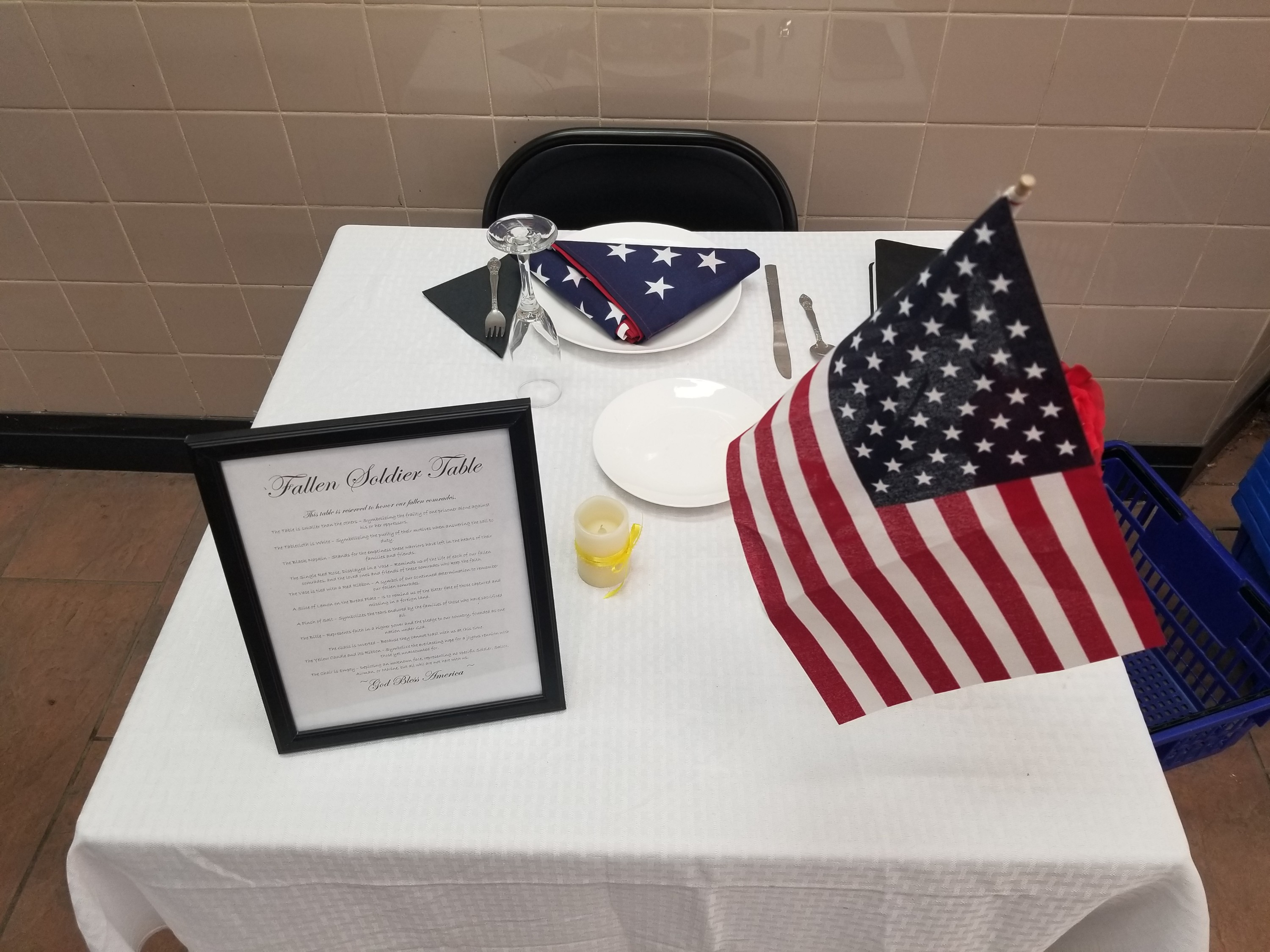 Fallen Soldiers Table